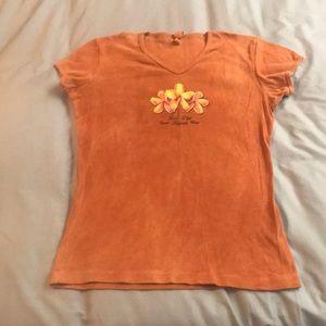 Tops - NWOT orange Hawaii shirt Large
